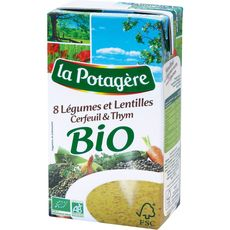 La Potagère bio 8 légumes lentilles 1l