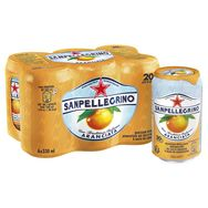 San Pellegrino eau gazeuse aromatisée arranciata 6x33cl