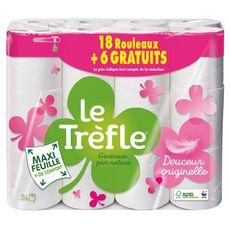 LE TREFLE Le Trèfle Papier toilette maxi feuille x24 24 rouleaux