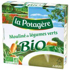 La Potagère mouliné de légumes verts bio 2x30cl