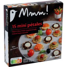 AUCHAN MMM! Auchan Mmm! Mini pétales apéritif 225g 15 pièces 15 pièces 225g