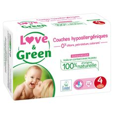 Love & Green Couches écologiques taille 4 (7-14 kg) x46
