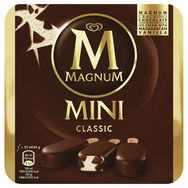 Magnum mini bâtonnets glace classic x6 -264g