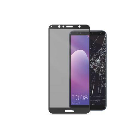 CELLULARLINE Protection écran verre trempé pour Y7 2018 - Transparent et noir
