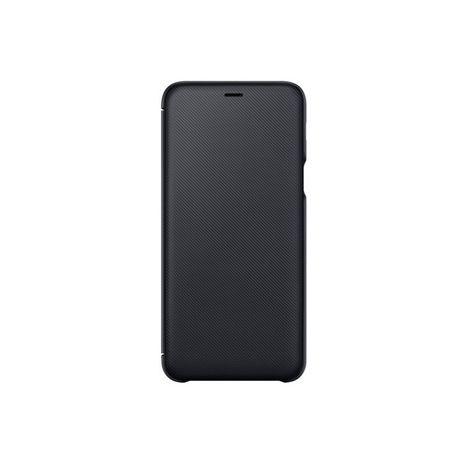 SAMSUNG Etui folio porte carte pour Galaxy A6+ - Noir
