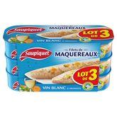 Saupiquet filets maquereaux vin blanc 3x176g maxi gourmand