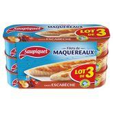 Saupiquet filets maquereaux sauce escabèche 3x169g