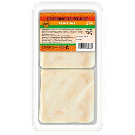 blanc de poulet halal tranche x8 -160g