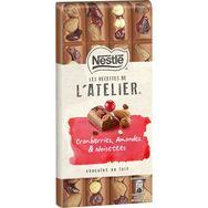 Nestlé recettes atelier lait cranberries amandes 195g