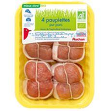 Auchan paupiette de porc bio 4x110g