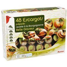 AUCHAN Escargots préparés à la Bourguignonne 48 pièces 355g