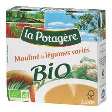 La Potagère mouliné de légumes variés bio 2x30cl