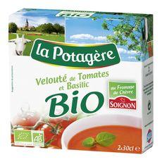 La Potagère velouté tomate basilic chèvre bio 2x30cl
