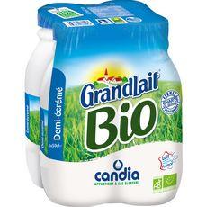 Candia bio grandlait demi-écrémé bouteille 4x50cl