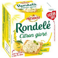 RONDELE Rondelé citron basilic 125g 125g