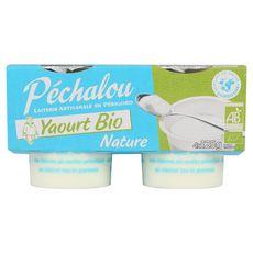 PECHALOU Yaourt brassé bio nature 4x125g