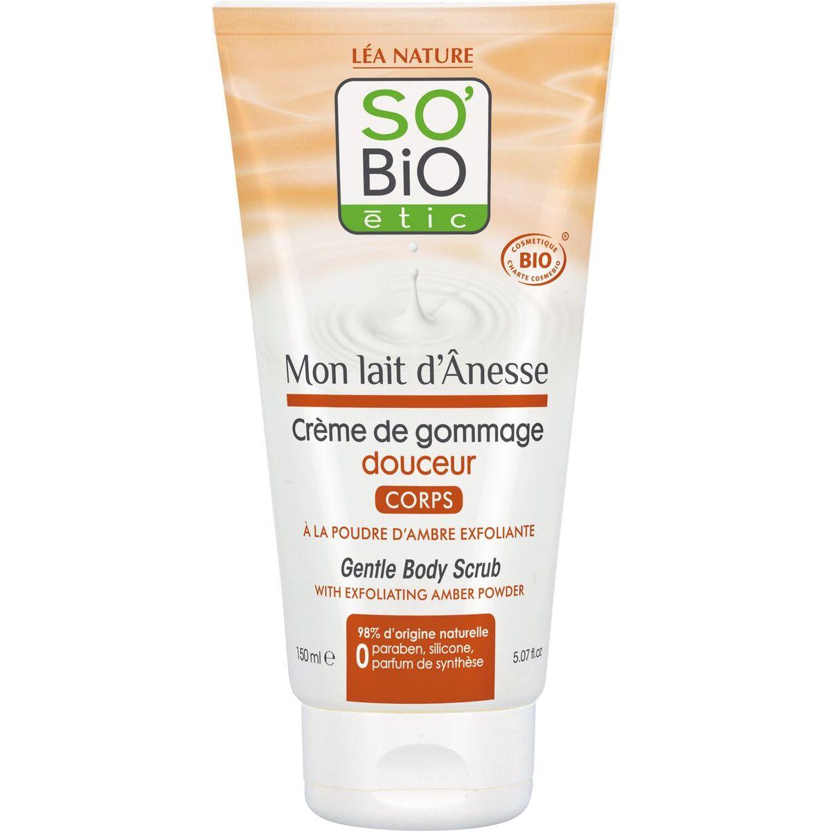 So Bio Etic crème de gommage douceur lait d'ânesse 150ml