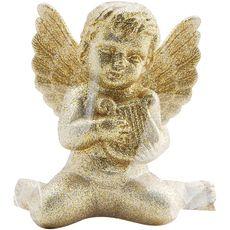 petit ange paillette doré or x1