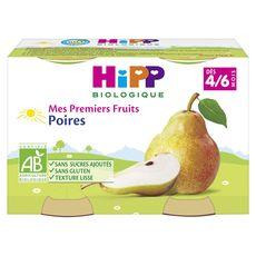 HIPP Hipp bio poire pot 2x125g dès 4/6 mois