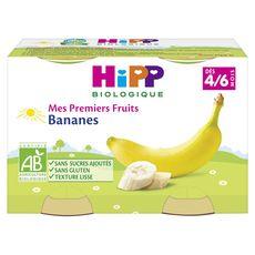 HIPP Hipp bio banane pot 2x125g dès 4/6mois