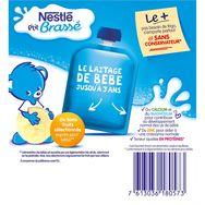 Nestlé ptit brassé gourde lactée banane 4x90g dès 6 mois