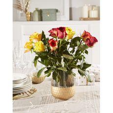 rose arlequin ton chaud tige 40cm x10