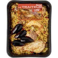 AUCHAN LE TRAITEUR Paëlla 4 portions 1kg