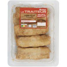 AUCHAN LE TRAITEUR Nems au poulet 4 pièces 4x65g