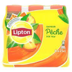 Lipton Ice Tea pêche bouteilles 6x25cl