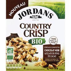 JORDAN'S Country Crisp céréales bio complètes chocolat noir et fêves de cacao 400g