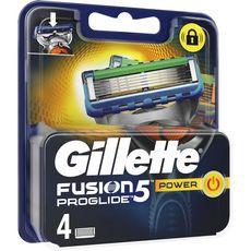 Gillettes lames fusion proglide power x4