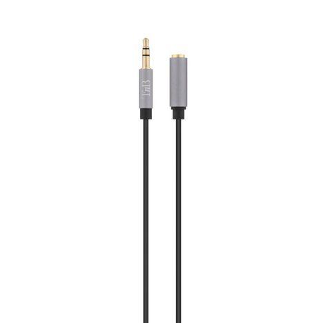 TNB Câble audio rallonge mâle vers femelle jack 3.5 mm - Noir et gris