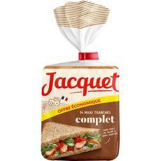 Jacquet Maxi Jac' pain de mie complet format économique 550g