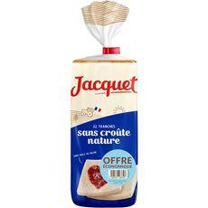 Jacquet pain de mie sans croûte nature tranché 475g