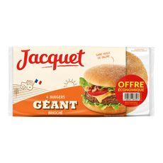 Jacquet hamburger géant brioché x4 -300g offre économique