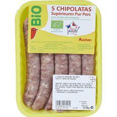 Auchan chipolatas bio x5 -275g