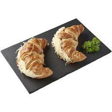 AUCHAN LE TRAITEUR Croissant au jambon et fromage 2 pièces 280g