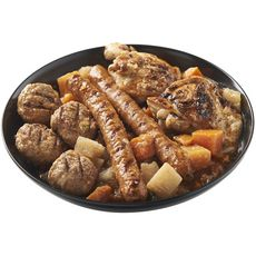 AUCHAN LE TRAITEUR Couscous aux légumes et à la viande 4 portions 1kg