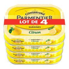 PARMENTIER Sardines à l'huile et au citron 4x135g 540g