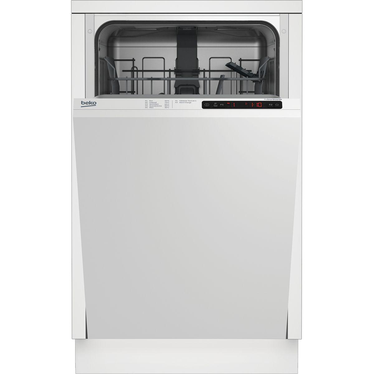 Lave-vaisselle full encastrable LVI41F, 10 Couverts, 45 cm, 49 dB, 5 Programmes