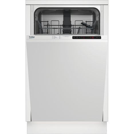 BEKO Lave-vaisselle full encastrable LVI41F, 10 Couverts, 45 cm, 49 dB, 5 Programmes