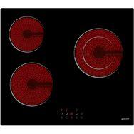 CURTISS Table de cuisson vitrocéramique BV352DR1 - 52 cm, 3 Foyers