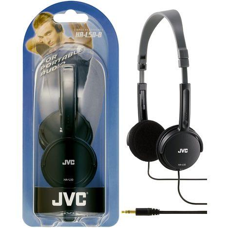 JVC Casque audio supra-auriculaire filaire - Jack 3.5 mm - HA-L50 - Noir