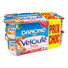 VELOUTE FRUIX DANONE Yaourt brassé et mixé aux fruits panaché 16x125g 16x125g