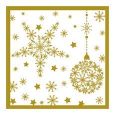 ACTUEL Actuel Serviettes en papier 40x40cm décorées or Noël x20 3 plis 20 pièces