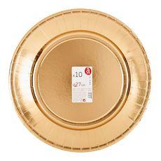 ACTUEL Actuel Assiettes rondes 27cm en or x10 10 pièces