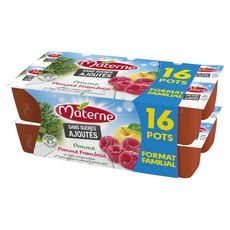 Materne compote pomme, framboise 16x100g format familial