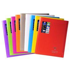 CLAIREFONTAINE Clairefontaine Koverbook Cahier piqûre 96 pages 24x32cm coloris assortis 1 pièce