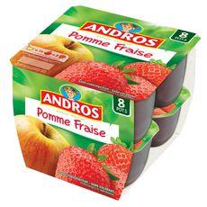 ANDROS Spécialité pommes fraises 8x100g