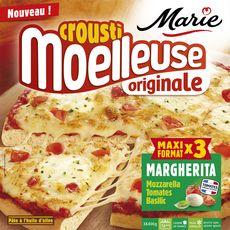 MARIE Pizza crousti moelleuse margherita 3 pizzas 1,2kg